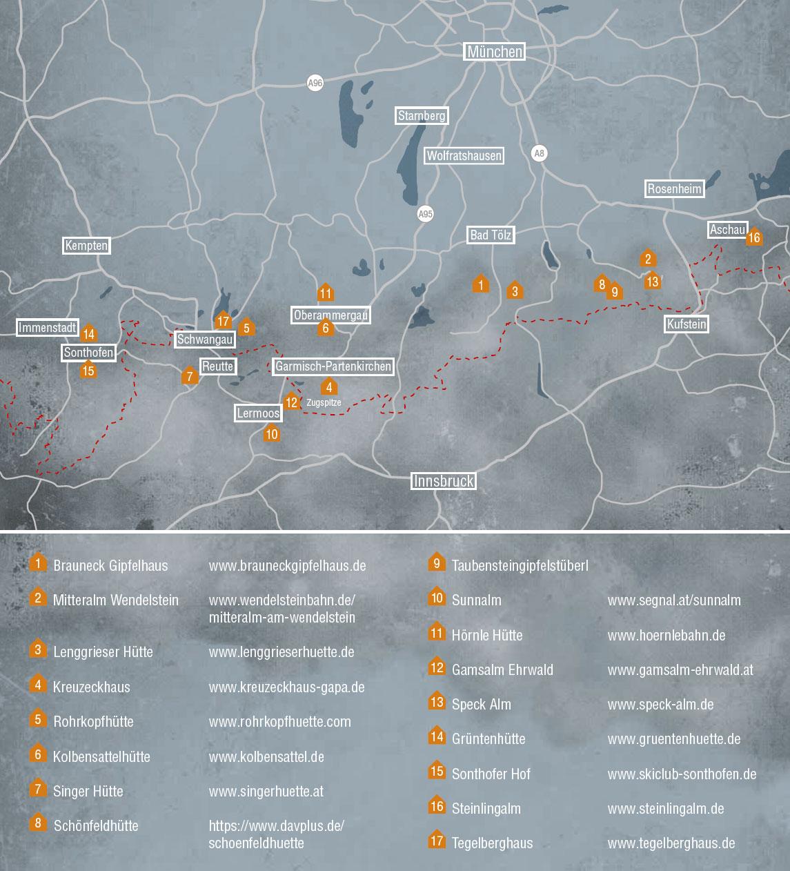 ZIENER Huettentour Karte HP